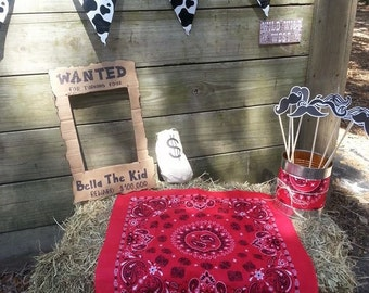 Customized Western Wanted Photo Prop Sign