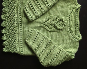 babies soft cotton jumper in lime green to fit approx 6 - 12 months