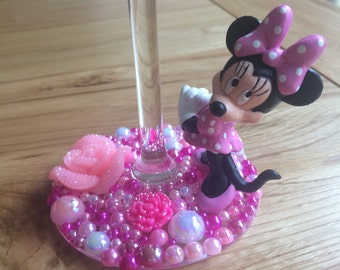 Disney Minnie Mouse wine glass