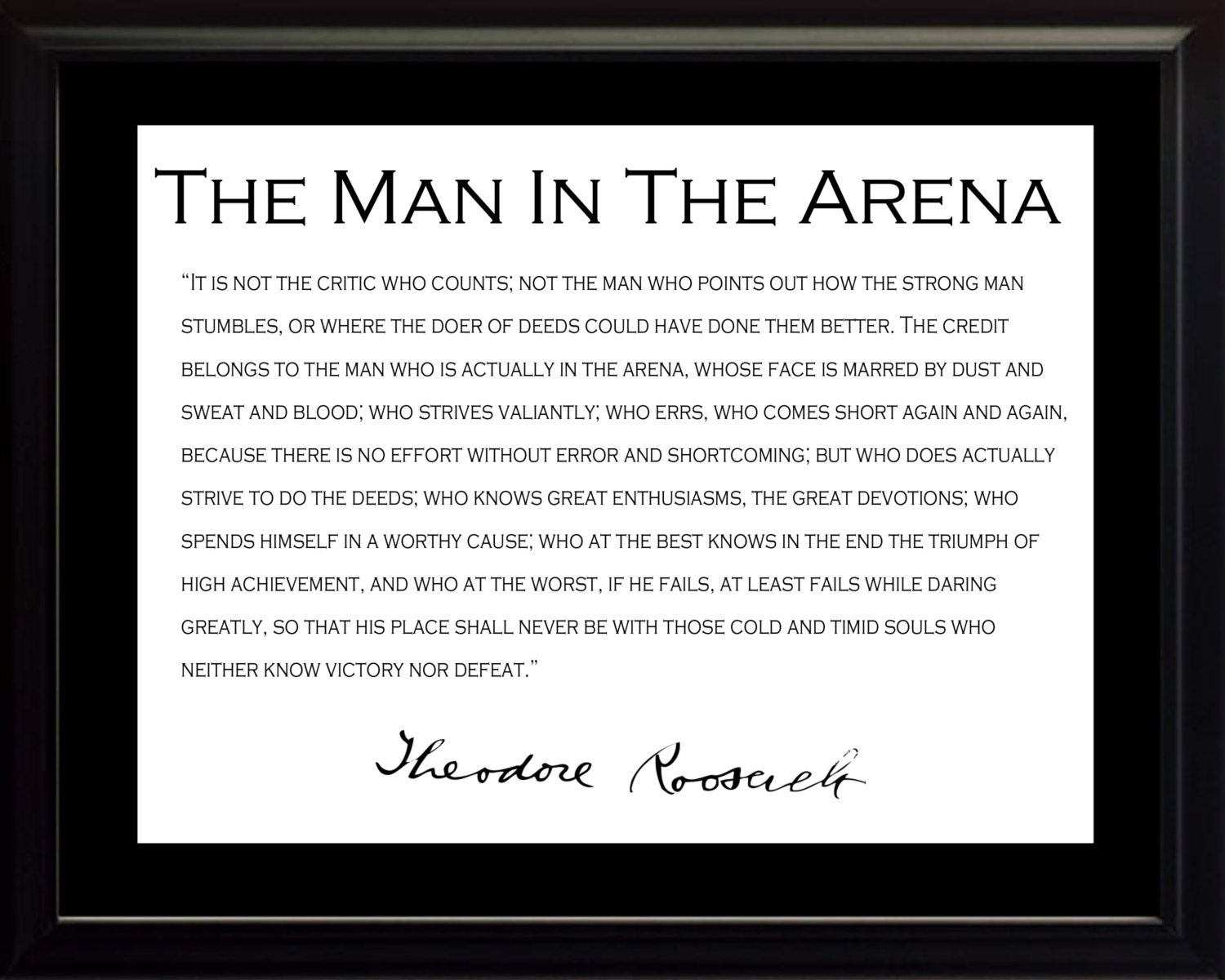 photo regarding The Man in the Arena Printable named Teddy Roosevelt Prices person Inside The Arena ~ Greatest 10 Estimates