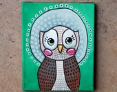 "Owl Painting - Number 2 of Series ""Sarah"""