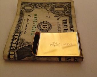 So Money Personalized Script Custom Engraved Brass Money Clip