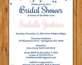 Bridal Shower Confetti Navy Blue Blush Gold Wedding Shower Hen's Party Adult Birthday 5x7 Digital JPG Printable (371)
