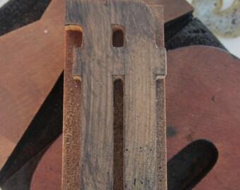 Letterpress Wood Type Printers Block ff Ligature