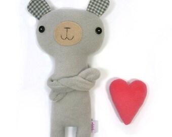Bear with Heart, stuffed plush animal