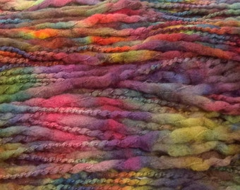 Handpainted Bulky Yarn -  Wooly Mammoth - 4 ounces ARCADE Lot #151124 -  100% Merino Wool Yarn plus Mobius Cowl Pattern
