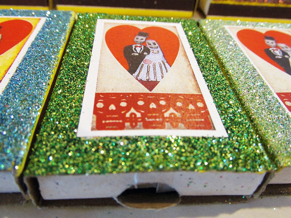 Day Of The Dead Wedding Gifts: Mexican Wedding Favors Day Of The Dead Matchbox Bridal Shower