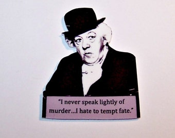 "Agatha Christie MISS MARPLE ""Speak lightly"" Mystery Quote Pin"