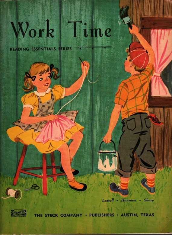 Work Time Reading Essentials Series - Adda Mai Sharp - Betsy Warren - 1955 - Vintage Kids Book