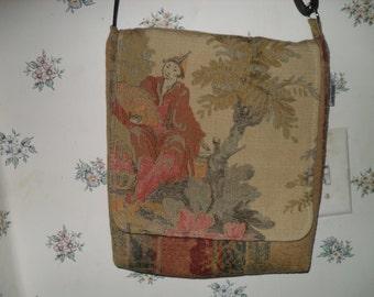 Japanese Tapestry Messenger Bag