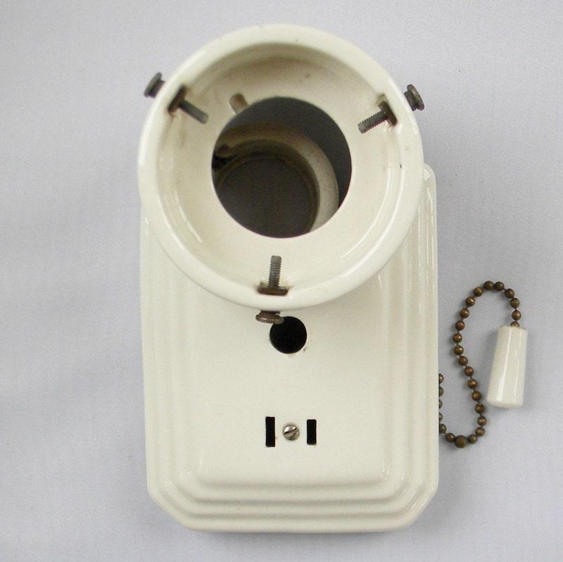 Deco Porcelain Bathroom Light Fixture White Wall Sconce