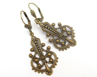 Art Nouveau Earrings, Chandelier Earrings, Art Deco Earrings, Wedding Jewelry, Bridal Earrings, Bohemian Earrings, Deco Moroccan Bohemian