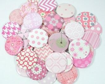 Pink Modern Bridal Shower Favors, Pink Baby Girl Shower Favors, Set of 5