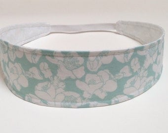 Headband Reversible Fabric  -  Antique Blue & White Floral Headband  -  Headbands for Women -  GRACE