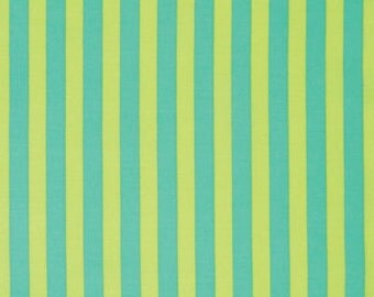 Tent Stripe in Citrus Elizabeth by Tula Pink / 1/2 Yard Cotton Quilt Apparel Fabric