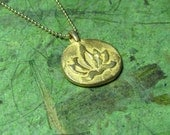 The Golden Lotus - 14k Gold Filled and Gold Vermeil Necklace