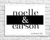Couple Names Marriage Gift Established Sign Bedroom Wall Decor Personalized Wedding Date Art Custom Typographic Print Anniversary Present