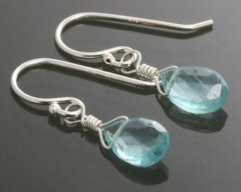 Apatite Sterling Silver Earrings s15e028