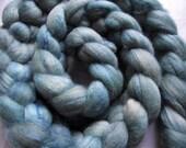 hand-dyed merino-silk roving 4 oz. LUCE