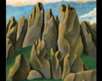 Desert Landscape Original Painting Acrylic