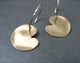 golden pond ... mixed metal earring