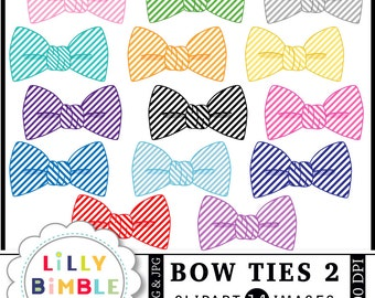 40% off Bow Ties clipart 14 bowties seersucker, striped, pink, light blue commercial use included INSTANT DOWNLOAD