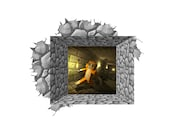 "Beyond the Wall Run Stampy Wall Decal - 29"" Wide x 24"" Tall"