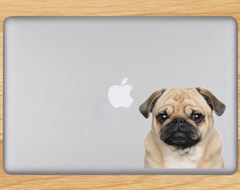 Pug Vinyl Decal - Laptop Sticker - Available in Various Sizes