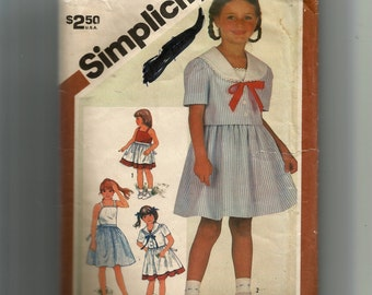 Simplicity Child's Sundress and Unlined Jacket Pattern 5863