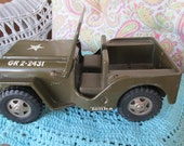 Tonka Military Jeep 1960's  GR 2-2431 All Metal ECS Epsteam