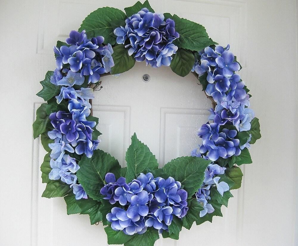 purple hydrangea wreath front door wreath welcome wreath