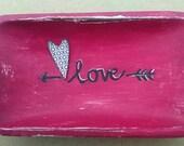 hearts...valentine...decor...tray...xox heart love arrow