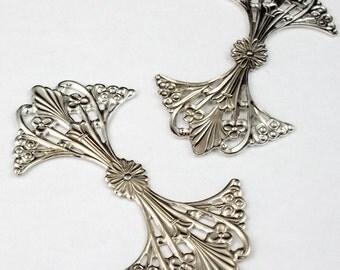 63mm Silver Fancy Art Nouveau Filigree #1598