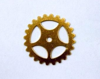 25mm Raw Brass Gear #SMP006