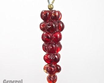 52mm Ruby Grape Cluster Dangle (2 Pcs) #3344