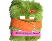 Nightmare Snatcher children's fuzzy magical journal, green Swampmop monster book