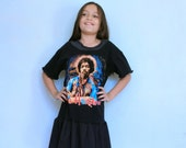 Jimi Hendrix Black Dress -Upcycled Patchwork - size 10 - One of a Kind