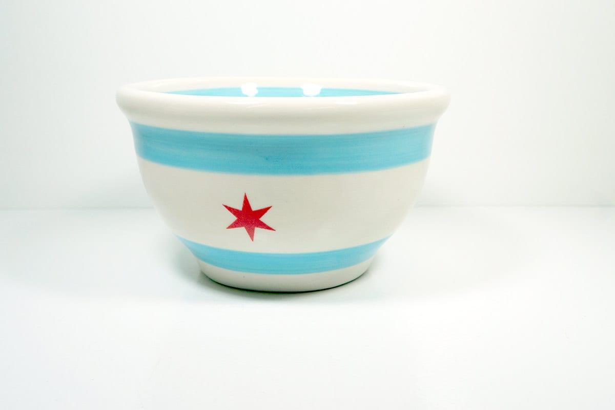 medium bowl chicago flag. Made to Order.