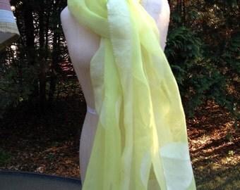 Vintage Rectangle Polka dot scarf green