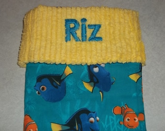 Disney Finding Nemo and Dory and Chenille Handmade Christmas Stocking FREE US SHIPPING