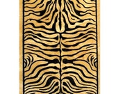 ZEBRA STRIPES Background - mounted African tribal rubber stamp, Sweet Grass Stamps No.17