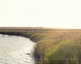 marsh landscape photography, green home decor, st marys georgia, river photography, sunset, nautical wall art