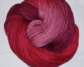 Hand dyed superwash sock yarn MULLED WINE
