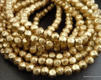 3mm English Cut Beads - Metallic Flax - Czech Glass 50 pcs