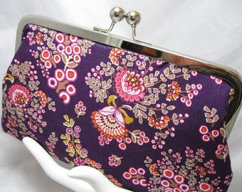 Coupon Organizer Purse Purple Bouquet