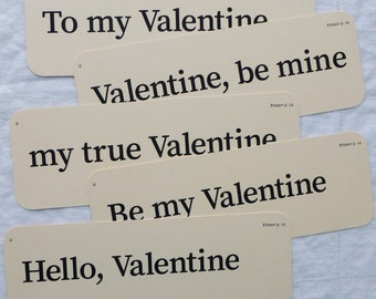 Extra Large flash card set - Valentines