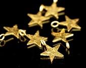 KG-117 thai karen hil tribes silver 4 gold vermeil die cut star shape charm 12.0 mm.