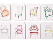 CHAIR COLLECTION NOTECARDS