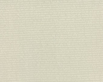 SALE - Daysail - Tiny Script in Gray: sku 55108-17 cotton quilting fabric by Bonnie and Camille for Moda Fabrics - 1 yard