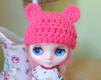 PEONY PINK bear ears for MIDDIE